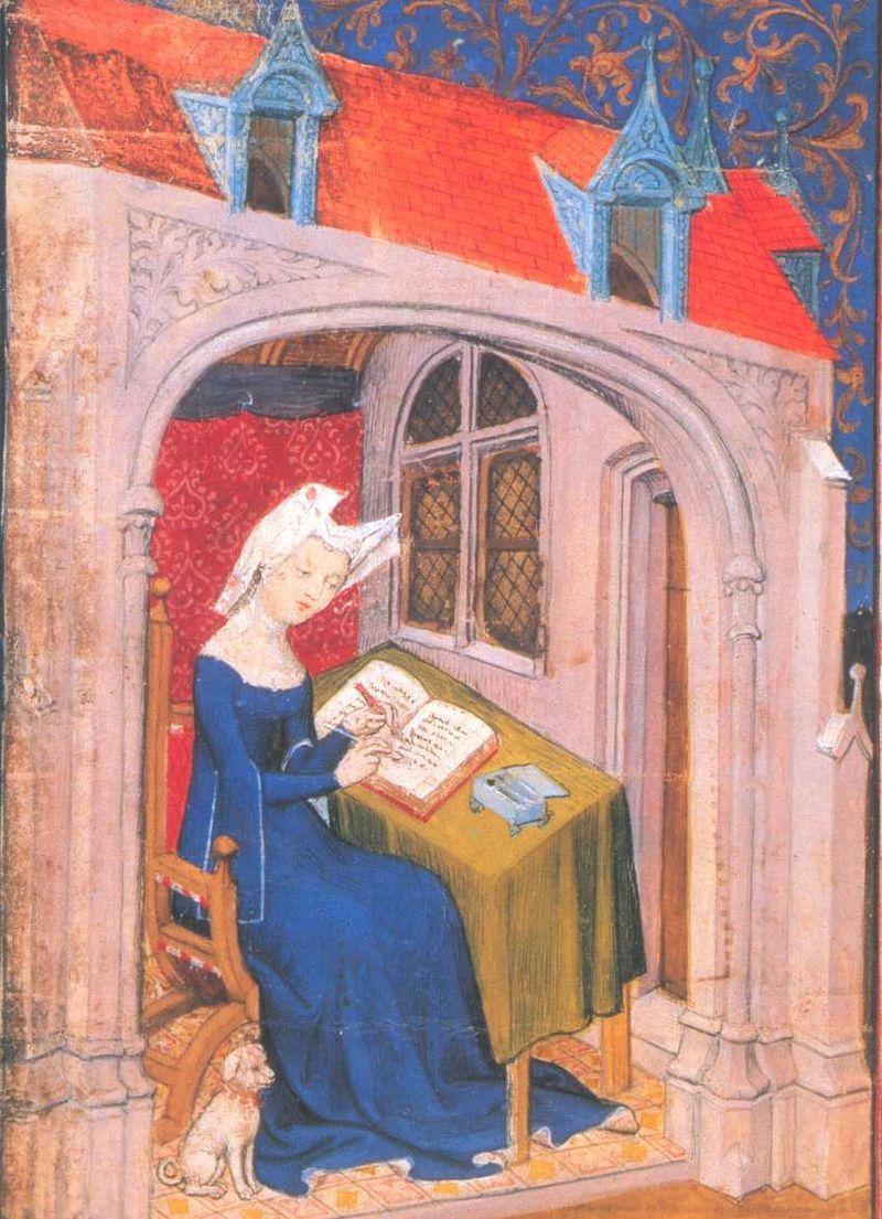 Christine de Pizan in una miniatura