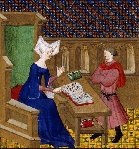 Christine educa suo figlio